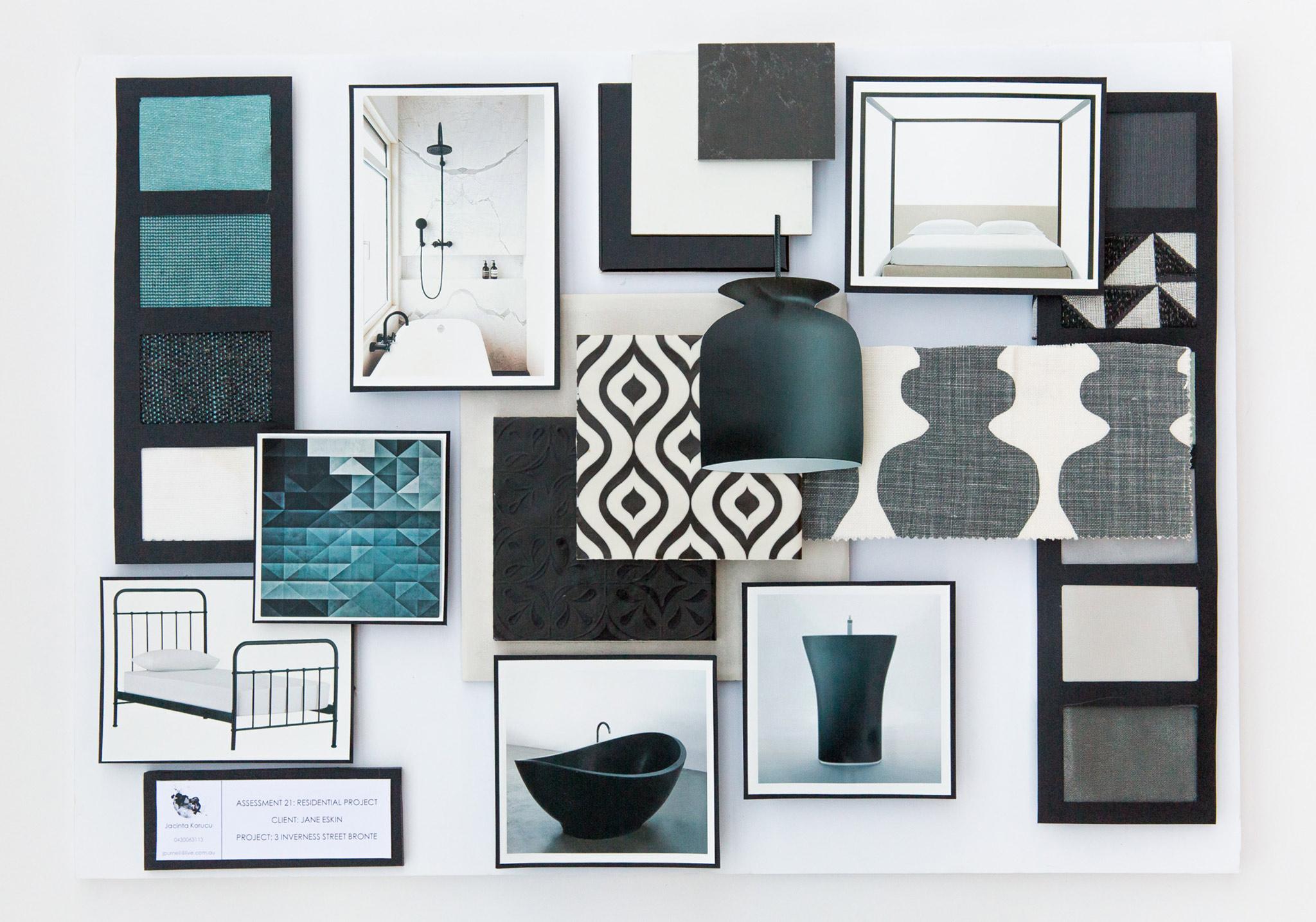 Student work interior design online - Interior design sample board software ...