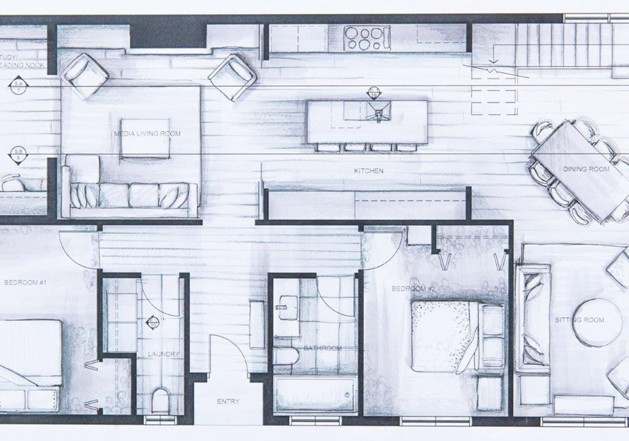 Student work interior design online Create a blueprint